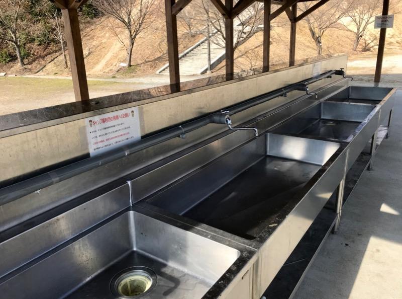ささゆりの湯 キャンプ場炊事場