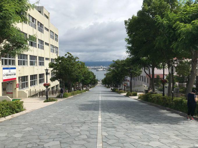 函館の坂道