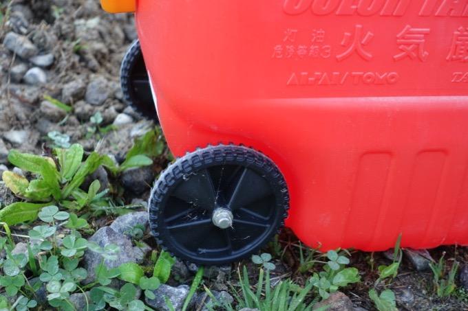 カラータンク 2000GT W3レッド 灯油タンクの車輪