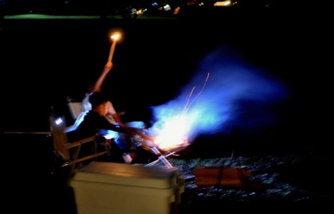 焚き火 火の粉