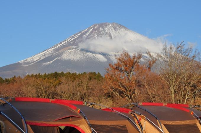 富士山の見えるやまぼうしオートキャンプ場