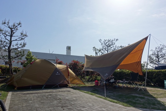 竜洋海洋公園オートキャンプ場 区画サイト