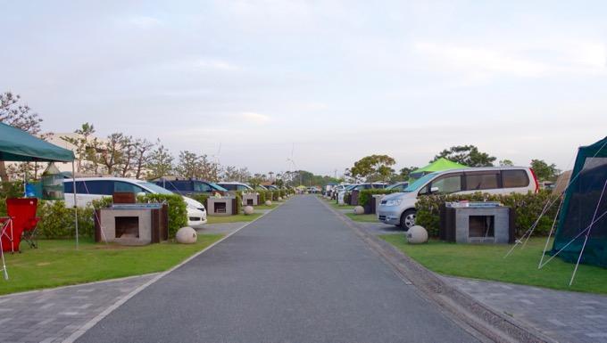 竜洋海洋公園オートキャンプ場 個別サイト