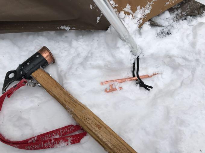 雪中キャンプベグダウン