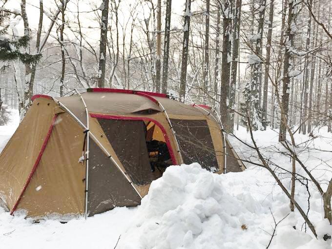 冬キャンプ ランドロック