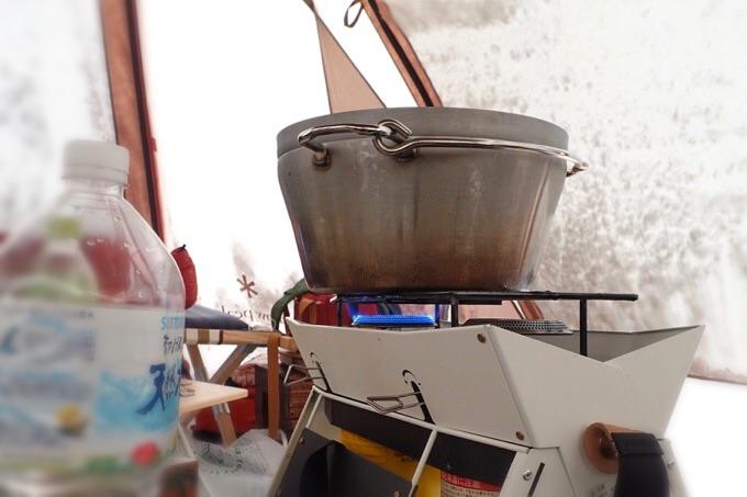 キャンプでお湯を沸かす