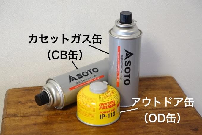ガス缶の種類