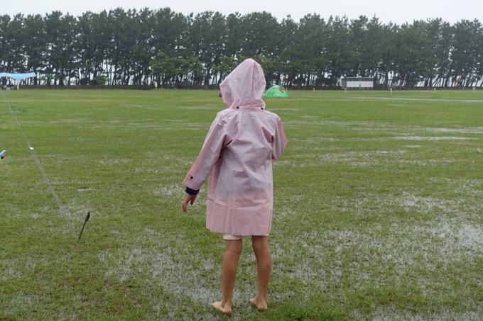 雨キャンプ