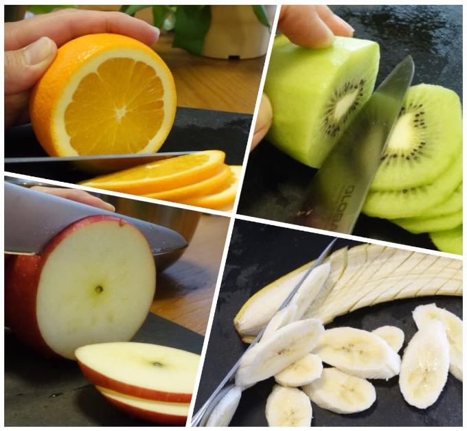 フルーツを切る