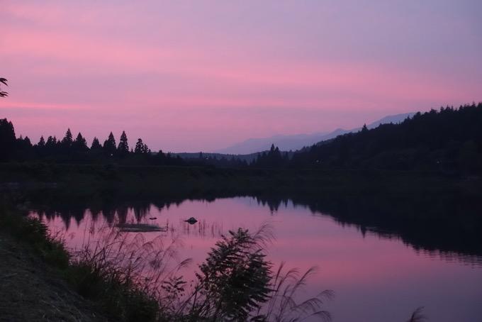 椛の湖 夕焼け