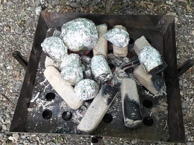 キャンプアルミホイル料理