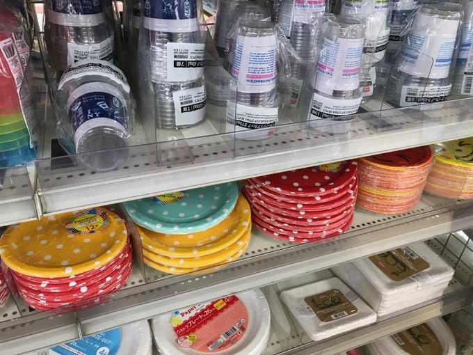 ダイソーカラフルな紙皿