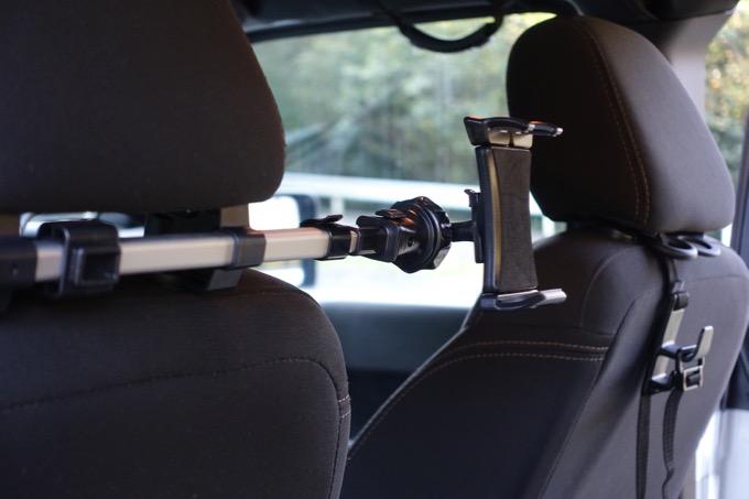 iKross ヘッドレスト取付式 タブレット対応 車載ホルダー 7-10.2インチ 後部座席 スマホ車載ホルダー