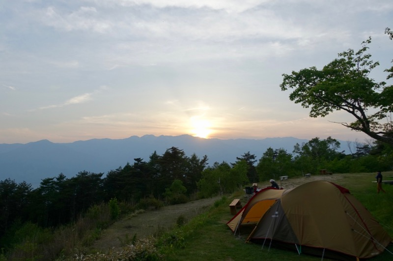 標高の高いキャンプ場