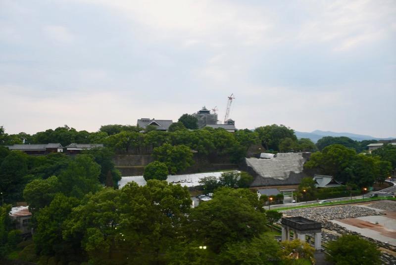 熊本ホテルキャッスルからの熊本城