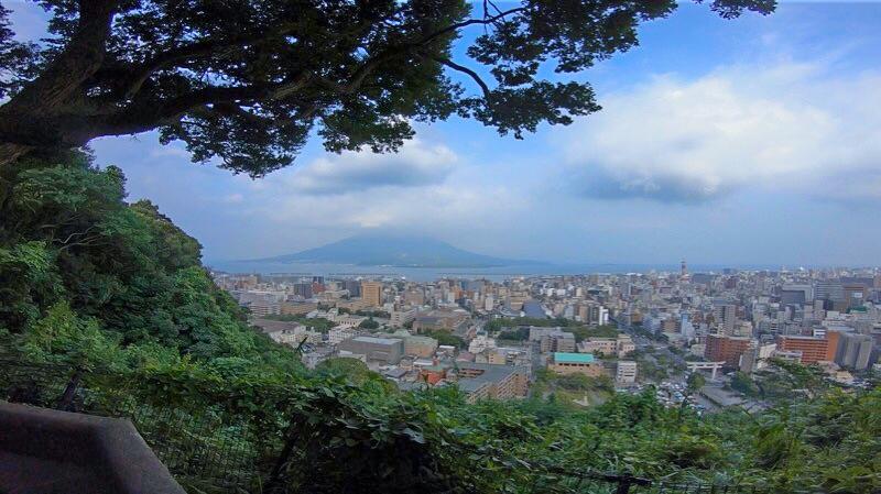 城山公園の展望台