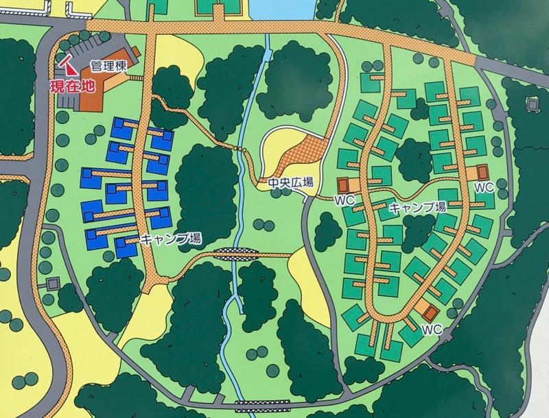 休暇村越前三国オートキャンプ場サイトマップ