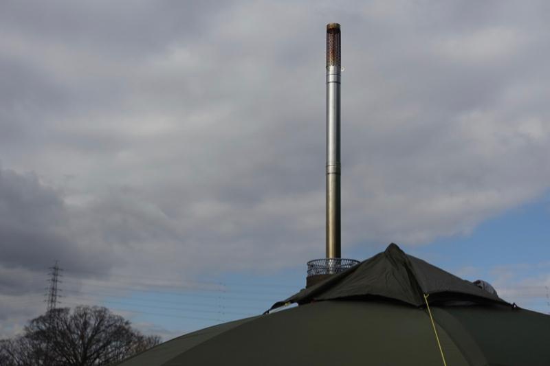 薪ストーブ煙突設置
