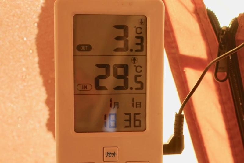薪ストーブテント内温度