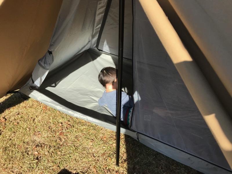 パンダTCに親子で寝るとギリギリです