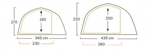 左側が4-6人用、右側が8-10人用。