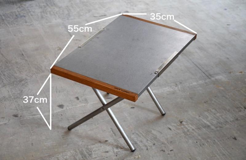 焚き火テーブル サイズ