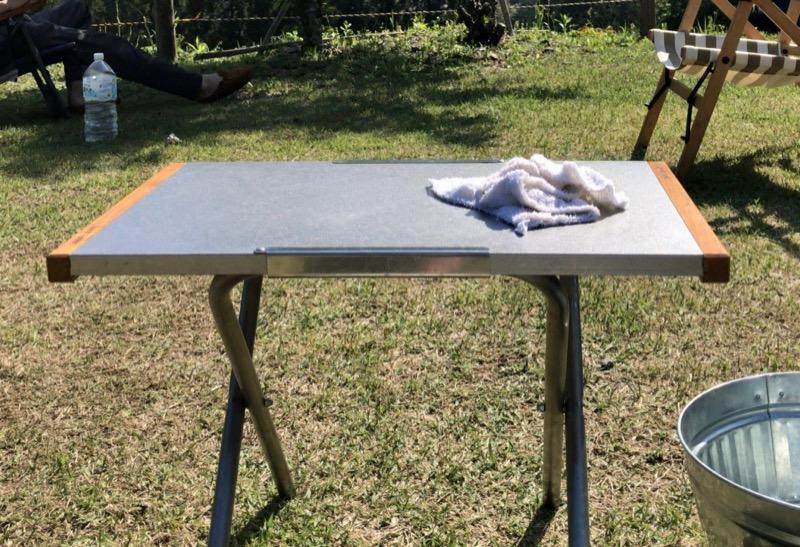 焚き火テーブル お掃除