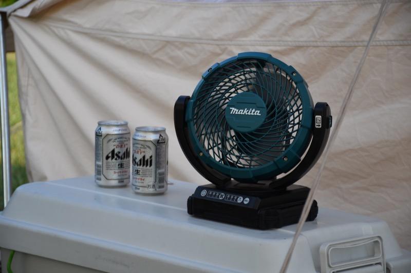 キャンプ場 扇風機