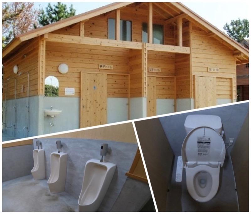 大淀西海岸ムーンビーチキャンプ場 トイレの様子