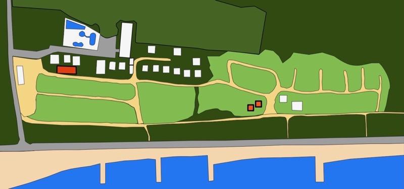 大淀西海岸ムーンビーチキャンプ場 バーベキュー場の地図
