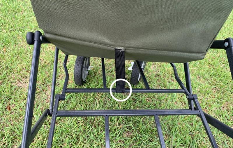 テントファクトリーキャリーワゴン本体カバー取り外しの方法3