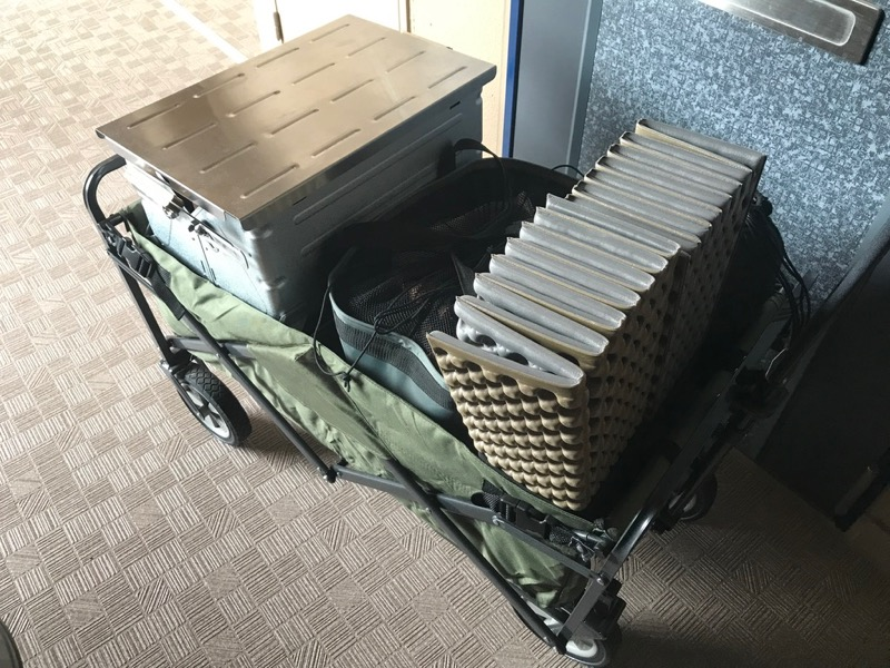 テントファクトリーキャリーワゴンをマンションで使用する