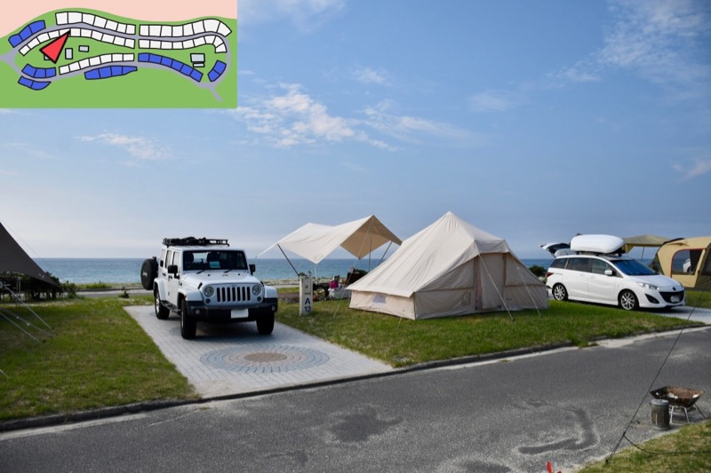 石見海浜公園オートキャンプ場 持ち込みサイト