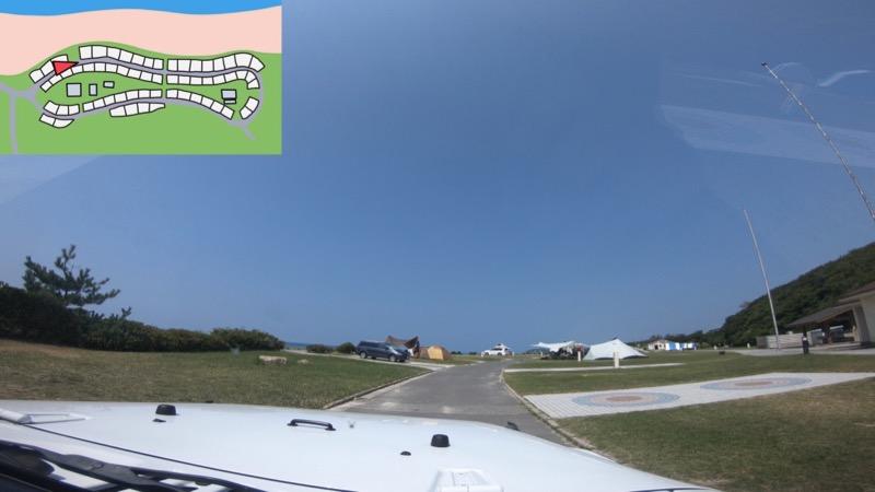 石見海浜公園キャンプ場 区画サイト