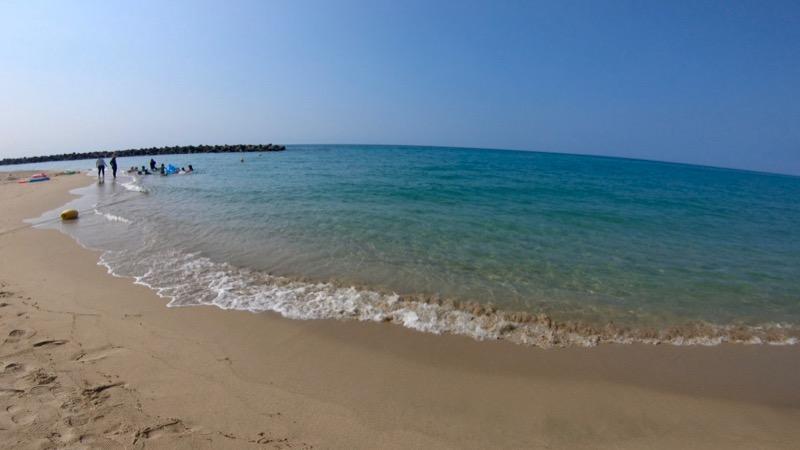 石見海浜公園キャンプ場 海水浴