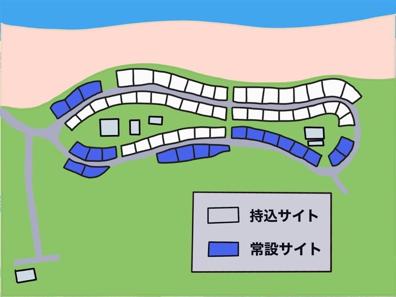 石見海浜公園キャンプ場 サイトマップ