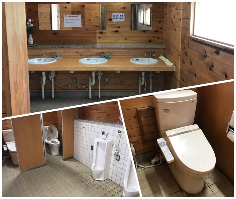 ささゆりの湯キャンプ場トイレ内部
