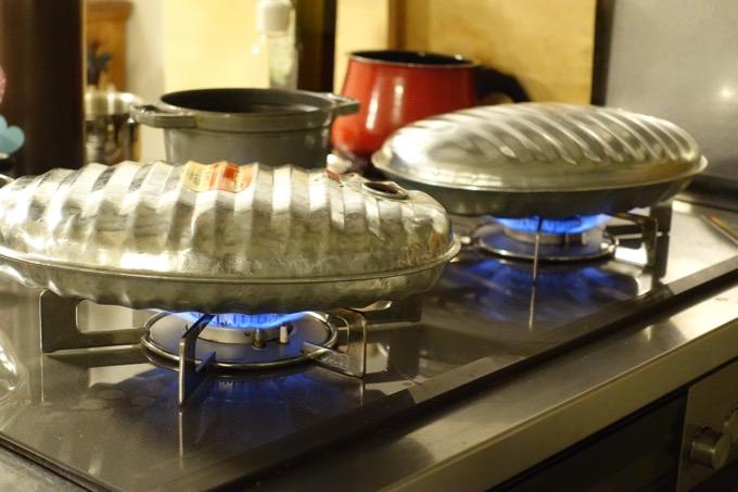 マルカ 湯たんぽAエース2.5Lをガスコンロで温める