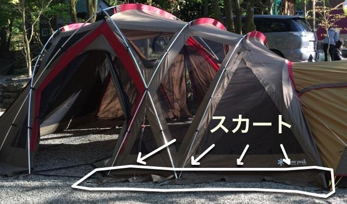 テントのスカート