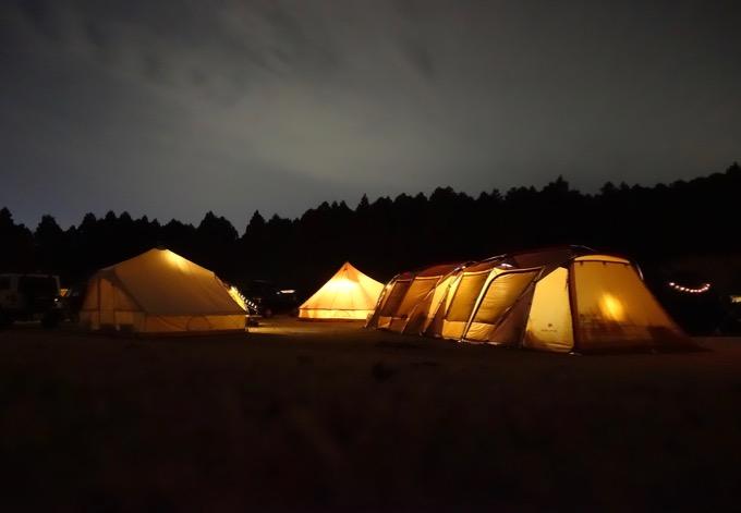 やまぼうしオートキャンプ場夜