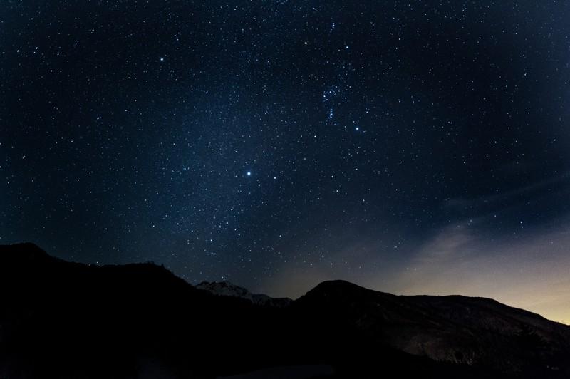 キャンプ 星空