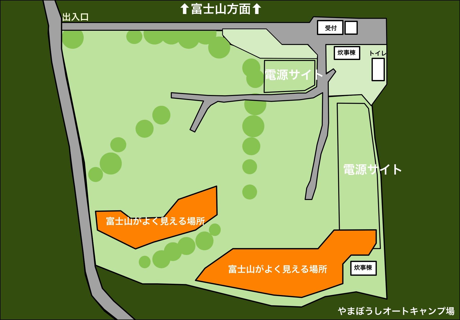 やまぼうしオートキャンプ場 地図
