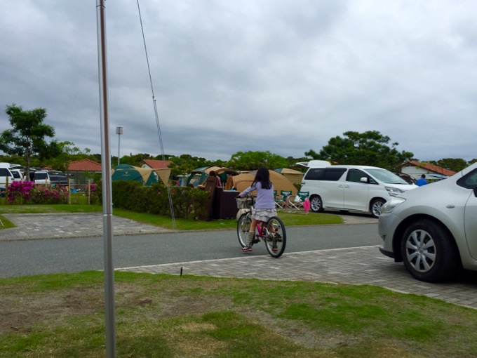 竜洋海洋公園オートキャンプ場 自転車