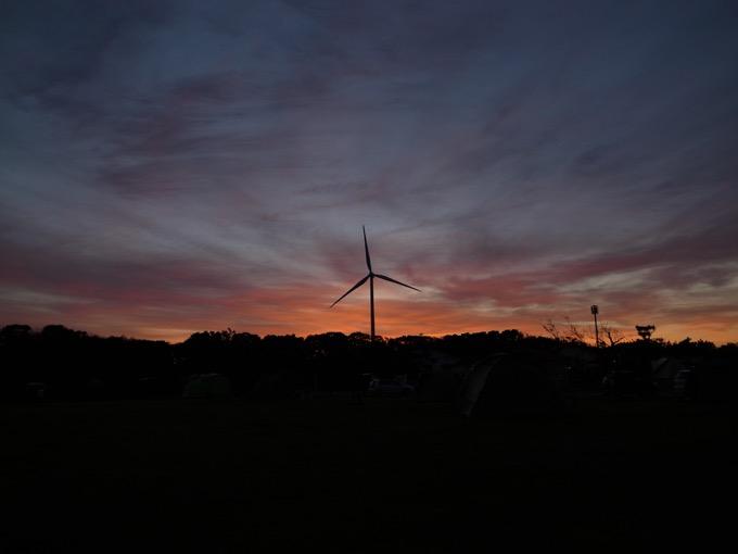 竜洋海洋公園オートキャンプ場 風車