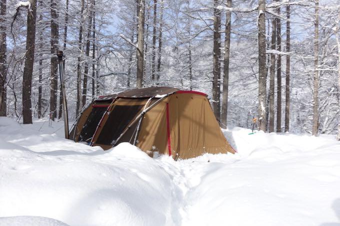 ランドロック 雪中キャンプ