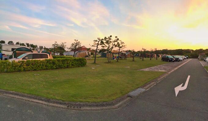 竜洋海洋公園オートキャンプ場 夕焼け