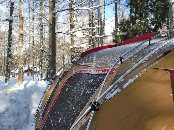 雪中キャンプ ランドロック