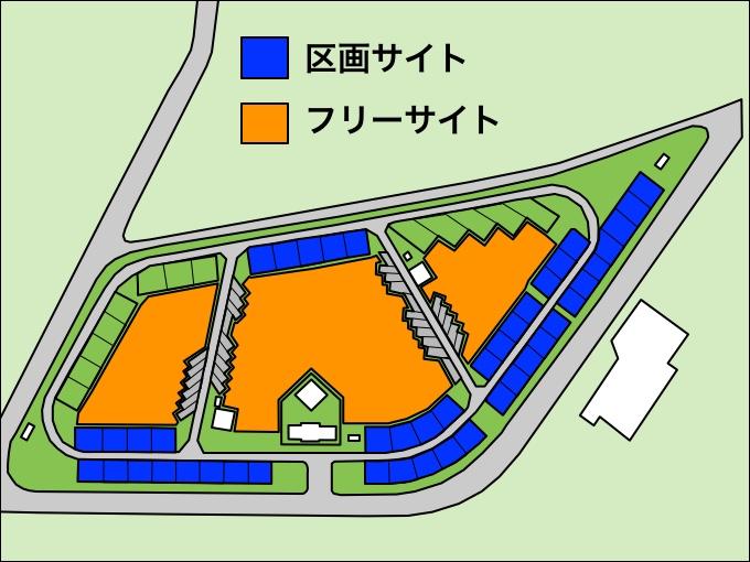 竜洋海洋公園オートキャンプ場 サイト地図