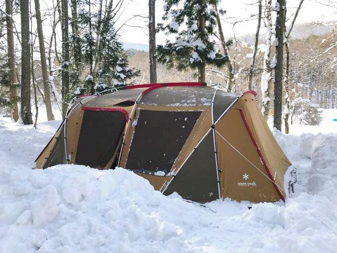ランドロック雪中キャンプ