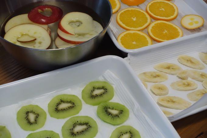フルーツを水気を取る